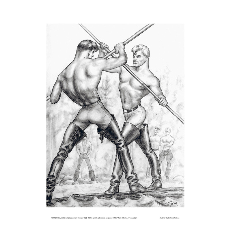 Tom of Finland Poster 24 x 30 cm Fencing Fight