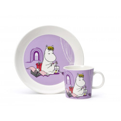 Moomin Set Mug and Plate Snorkmaiden Lila
