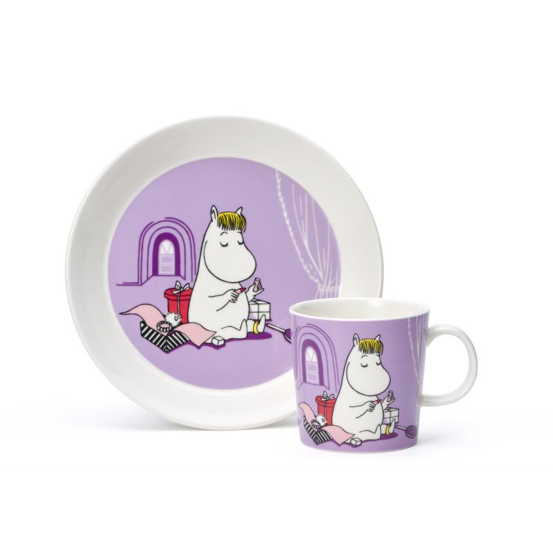Moomin Set Mug and Plate Snorkmaiden Lila