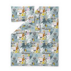 Moomin Duvet Cover Set Fairytale Turquoise Orange 120 x 160 cm 40 x 60 cm GOTS