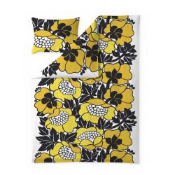 Annukka Yellow Duvet Cover Set 150 x 210 cm 50 x 60 cm GOTS