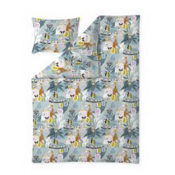 Moomin Duvet Cover Set Fairytale Turquoise Orange 150 x 210 cm 50 x 60 cm GOTS