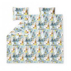 Moomin Duvet Cover Set Fairytale Turquoise Orange 240 x 210 cm 2 x 50 x 60 cm GOTS