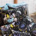 Moomin Pillowcase Stars Black Multicolor 50 x 60 cm GOTS