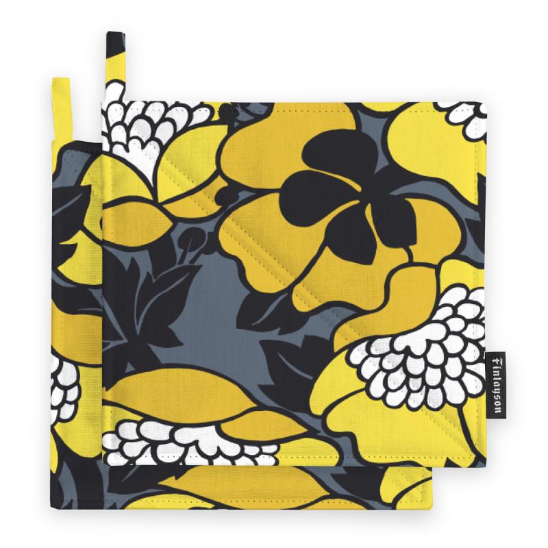 Annukka Yellow Pot Holder 2 pcs 22 x 22 cm