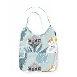 Moomin Oilcloth Bib Fairytale Turquoise Orange 25 x 31 cm