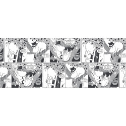 Moomin Thin Linen Fabric Comics Moominpappa Finlayson 100 x 150 cm
