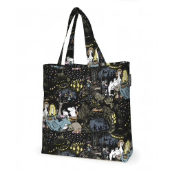 Moomin Cotton Shopping Bag Stars Black Multicolor 45 x 42 cm
