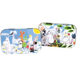 Moomin Summer Day Mini Tin Box 2 pcs