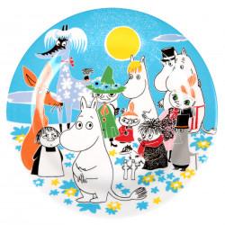Moomin Melamine Plate Summer Day