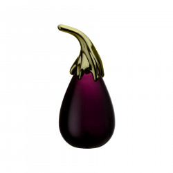 Iittala Glass Aubergine from Fruits and Vegetables Series Oiva Toikka