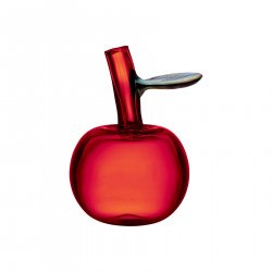 Iittala Glass Apple Bottle Red from Fruits and Vegetables Series Oiva Toikka