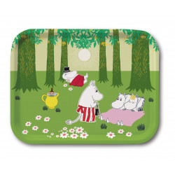 Moomin Birch Tray Relaxing...