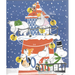 Moomin Christmas Advent Calendar with Plastic Figures 2015 Martinex