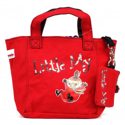 Moomin Small Tote Bag with Wallet Little My Red