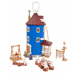 Moomin Plastic House and 9 Figures