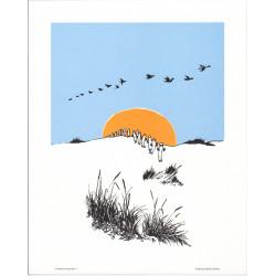 Moomin Retro Poster 24 x 30 cm Hattivati Wander Putinki