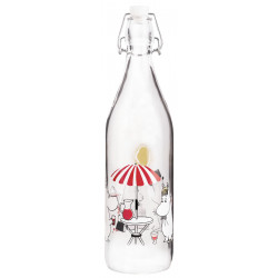 Moomin Glass Bottle 1 L...