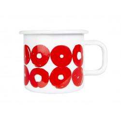 Muurla Enamel Mug Twirl Red...