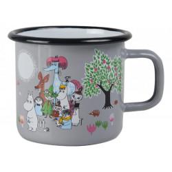 Moomin Enamel Mug 0.37 L Garden Grey Muurla