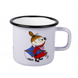 Moomin Enamel Mug 0.25 L Retro Little My Kite White Muurla