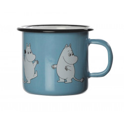 Moomin Enamel Mug Retro Moomintroll Light Blue 0.25 L