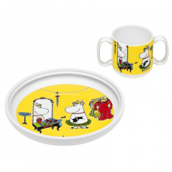 Arabia Moomin Children's Set Plate and Cup Role Playing