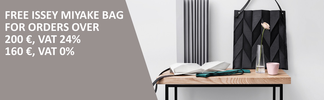 free Issey Miyake bag for orders over 200 €,VAT 24%, or160 €,VAT 0%